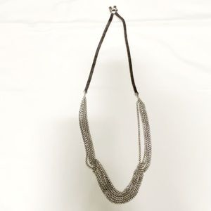 Fossil Leather Chain Necklace